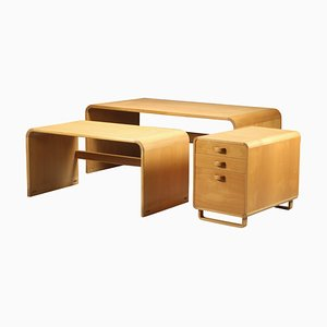Mid-Century Desks & Drawers by Thygesen & Sørensen for Magnus Olesen, Set of 3