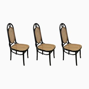 Mid-Century No. 17 Dining Chairs from Thonet, Set of 3