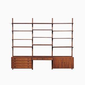 Mueble de pared modular de palisandro de Thygesen & Sørensen para Hansen & Guldborg, años 70