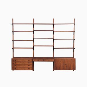 Rosewood Wall Unit by Thygesen & Sørensen for Hansen & Guldborg, 1970s