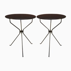 Italian Steel Folding Tables by Achille Castiglioni for Zanotta, 1978, Set of 2