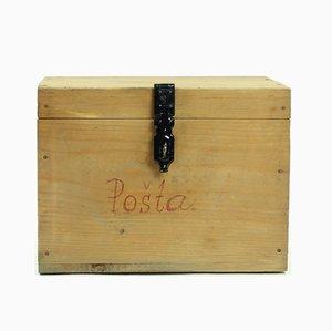 Vintage Briefkasten aus Holz, 1960er