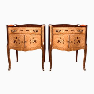 French Rosewood Nightstands, 1930s, Set of 2