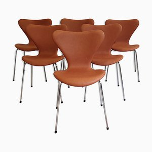 Sillas de comedor de Arne Jacobsen para Fritz Hansen, años 60. Juego de 6