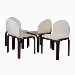 Tavolo da pranzo e sedie di Gae Aulenti per Knoll Inc. / Knoll International, anni '60, set di 4