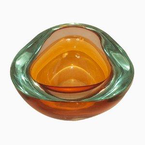 Cuenco de cristal de Murano de Flavio Poli, años 50