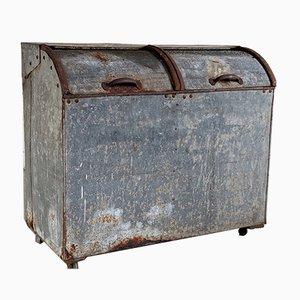 Antiker Mülleimer oder Behälter aus Metall