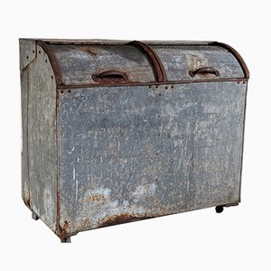 Antique Grain Metal Bin or Storage Box