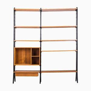 Mid-Century Teak Modular Shelf, 1960s