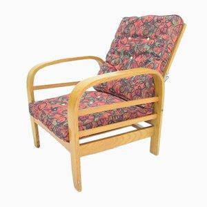 Chaise longue vintage de madera curvada, años 50