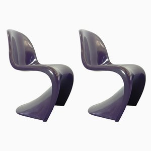 Purple Dining Chairs by Verner Panton for Herman Miller, 1970s, Set of 2