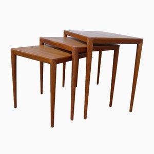 Tavolini ad incastro di Severin Hansen per Haslev Møbelsnedkeri, anni '60