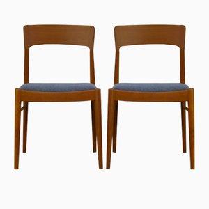Esszimmerstühle aus Teak von Henning Kjærnulf für Korup Stolefabrik, 1960er, 2er Set