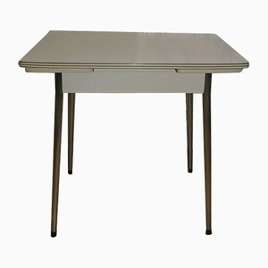 Small Mid-Century Chrome and Formica Dining Table