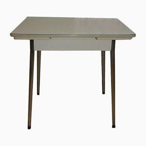 Tavolo da pranzo Mid-Century in metallo cromato e formica
