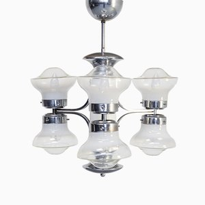 Mid-Century Chandelier by Carlo Nason for Mazzega, 1950s