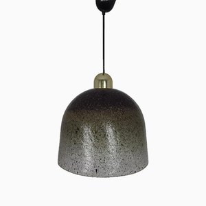 Lámparas de techo de vidrio de Peill & Putzler, años 60. Juego de 2