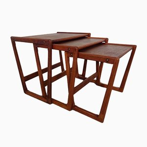 Danish Teak Nesting Tables by Holger Georg Jensen for Kubus, 1960s