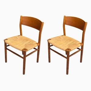 Modell 157 Esszimmerstühle von Børge Mogensen für Søborg Møbelfabrik, 1950er, 2er Set
