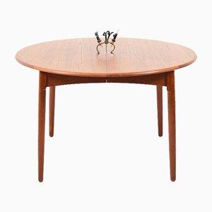Mesa de comedor danesa Mid-Century de teca