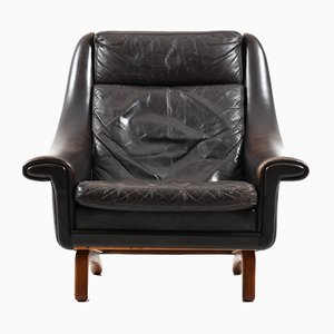 Mid-Century Danish Leather Lounge Chair by Aage Christiansen for Erhardsen & Andersen