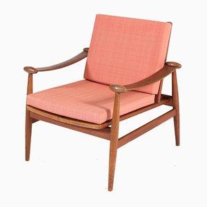 Dänischer Spade Stuhl mit Gestell aus Teak von Finn Juhl für France & Søn / France & Daverkosen, 1960er