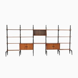 Teak Wall Units by Louis van Teeffelen for Webe, 1950s, Set of 22