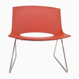 Stuhl aus rotem Kunststoff, 1980er