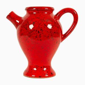 Brocca vintage in ceramica rossa di Michael Andersen & Son, Danimarca, anni '60
