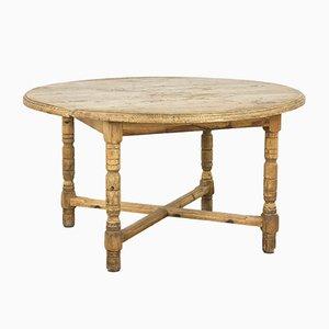 Tavolo da pranzo antico rustico in legno di pino