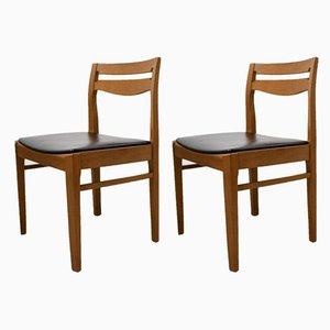 Chaises de Salle à Manger en Teck de Nathan, 1960s, Set de 2