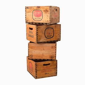 Italian Beer Crates, 1950s, Set of 4