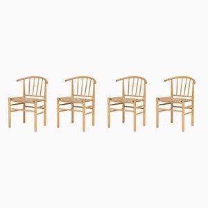 Esszimmerstühle aus Buche, 1950er, 4er Set
