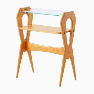 Tavolino in legno d'acero, Italia, anni '50
