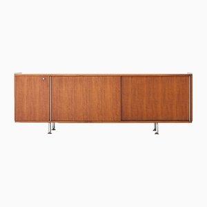 Italienisches Sideboard aus Nussholz von Alberto Rosselli für Gio Ponti, 1950er