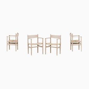 Chaises de Salle à Manger CH37 par Hans wegner pour Carl Hansen & Søn, 1960s, Set de 4