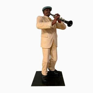 Vintage Jazz Man Figurine