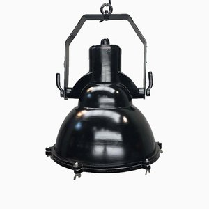 Black Industrial Tiltable Ceiling Lamp, 1990s