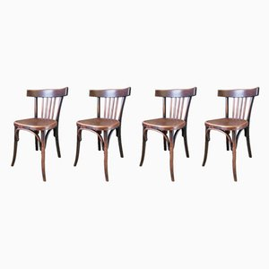 Beech Dining Chairs from Fischel, 1920s, Set of 4