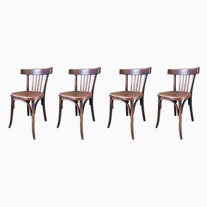 Esszimmerstühle aus Buche von Fischel, 1920er, 4er Set