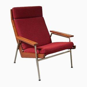 Niederländischer Sessel mit rotem Stoffbezug von Rob Parry für De Ster Gelderland, 1960er