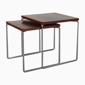 Dutch Rosewood Nesting Tables from Brabantia, 1960s, Set of 2
