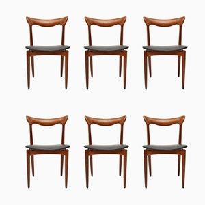 Dänische Esszimmerstühle aus Afromosia von H.W. Klein für Bramin, 1960er, 6er Set