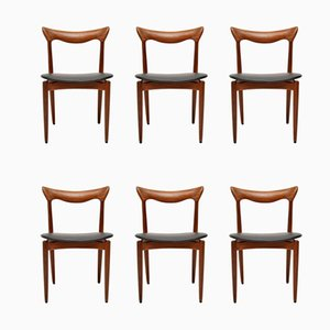Danish Afromosia Dining Chairs by HW Klein for Bramin, 1960s, Set of 6
