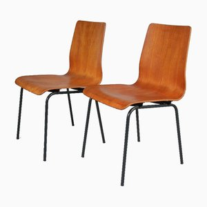 Dutch Euroika Plywood Side Chair by Friso Kramer for Auping, 1950s