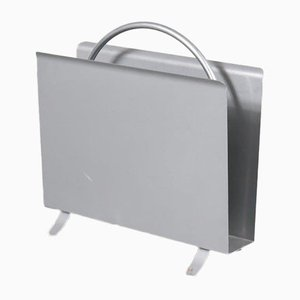 Dutch Model 1022 Chromed Metal Magazine Rack by W.H. Gispen for Gispen, 2000s