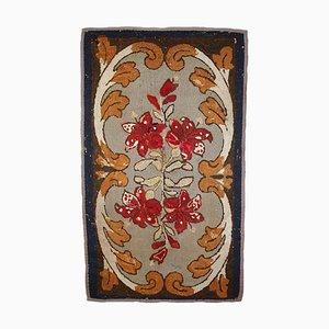 Antiker amerikanischer Teppich mit Haken