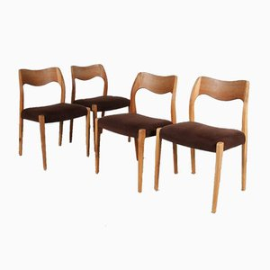 Danish Model 71 Dining Chairs from J.L. Møllers, 1950s, Set of 4