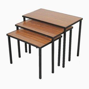 Tables Gigognes en Formica, Pays-Bas, 1950s, Set de 3