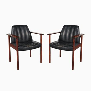 Norwegian Rosewood Armchairs by Sven Ivar Dysthe for Dokka Møbler, 1960s, Set of 2